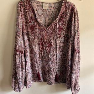 Knox Rose multi print blouse